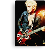 Billy Idol - Digital Painting Canvas Print