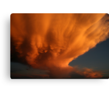 Wow! Check This Cloud!!  (A Dying Mammatus cloud) Free State, South Africa Canvas Print