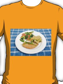 Colorful Meal of Chicken Rice and Vegetables T-Shirt