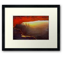 Mesa Arch Framed Print