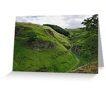 Cave Dale from Peveril Castle Greeting Card