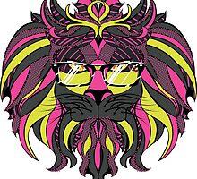 Lion Hipster 4 by AnnArtshock