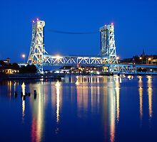 Night on the Portage Lift Bridge by masucci
