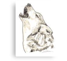 Spirit of Wolf - Shamanic Art Canvas Print