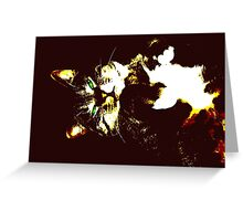 Stylized cat 2 Greeting Card