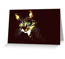 Stylized cat 3 Greeting Card