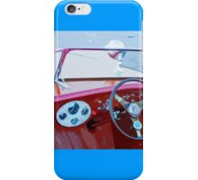 Classic Wooden Boat Abstract iPhone Case/Skin