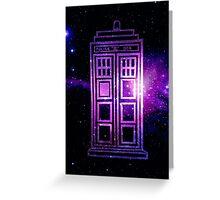 Galaxy TARDIS Greeting Card