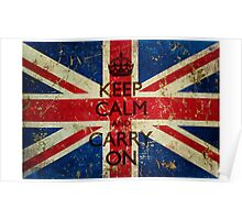 Grunge Keep Calm and Carry On Union Jack Poster