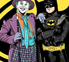 Batman & The Joker by averagejoeart