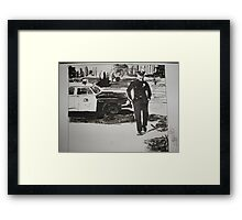 The Cops are Coming Framed Print