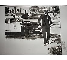 The Cops are Coming Photographic Print