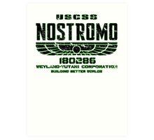 ALIEN 1979 USCSS NOSTROMO Art Print