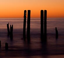 Old Port Willunga Jetty, South Australia by Elana Bailey