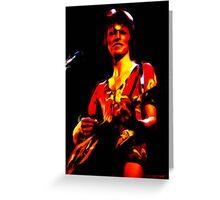 David Bowie - Ziggy Stardust - Digital Painting Greeting Card