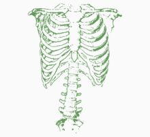 Spinal Tap (Nigel Tufnel) Green Ribcage Skeleton  Kids Clothes