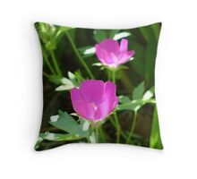 Winecups Throw Pillow