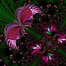 Fractal Red Butterfly by Paolo Galuppi