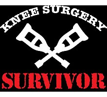 Cool 'Knee Surgery Survivor' Recovery T-Shirt and Gifts Photographic Print