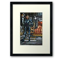 Space Roomba Framed Print