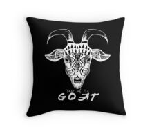 Year of the Goat white Throw Pillow