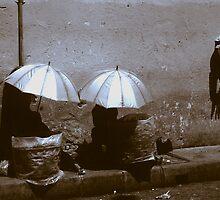 Umbrellas in Denpasar Bali by Damian McGrath