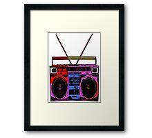 80's Boombox  Framed Print