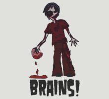 Zombie - Brains!  by Chloe van Leeuwen