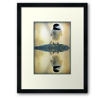 Reflecting Pool Chickadee Framed Print