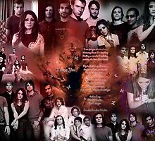 Flyleaf Love Collage by Aliesha Hamrick