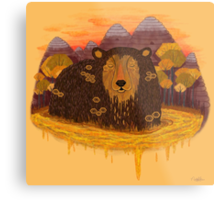 HONEY HIBERNATION Metal Print