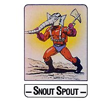 He-Man - Snout Spout - Trading Card Design Photographic Print