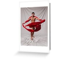 The Boy in Red Greeting Card