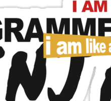 programmer : i am a programmer. i am like a ninja Sticker