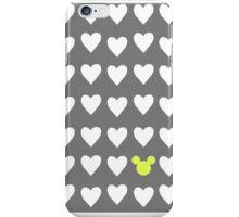 Hidden Mickey- Grey & Mustard iPhone Case/Skin