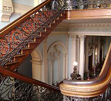 The beautiful stairs at Werribee Mansion by VENUSC1