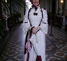 Kind and friendly lady in beautiful costume at Werribee Mansion by VENUSC1