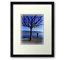 Photographing the Lake of Zurich Framed Print