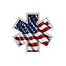 EMS AMERICAN FLAG by thatstickerguy