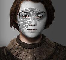 Arya Stark House Direwolf War Paint by HilaryHeffron