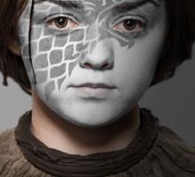 Arya Stark House Direwolf War Paint Sticker
