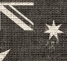 Old Australia Flag Burlap Linen Rustic Jute Sticker