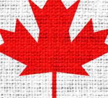 Canada Flag Burlap Linen Rustic Jute Sticker