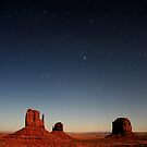 Monument Valley by Moonlight by Nolan Nitschke