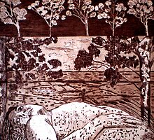 "Delta Dawn - Copper Plate Etching by Belinda ""BillyLee"" NYE (Printmaker)"