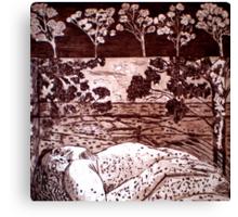 Delta Dawn - Copper Plate Etching Canvas Print