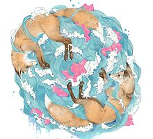 falling foxes by lauragraves
