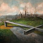 Bent Cross (tornado damage) by Randy  Burns