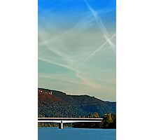 Bridge, scenery and some clouds   architectural photography Photographic Print