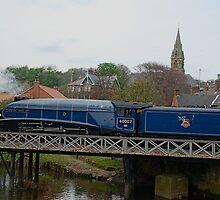 Sir Nigel Gresley crossing the River Esk by dougie1